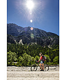 Bicycle tour, Cyclist, Upper bavaria, Mittenwald