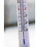 Winter, Cold, Thermometer, Frozen