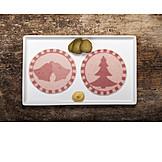 Christmas, Sausage, Salami Slice