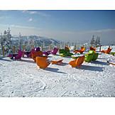 Winter, Seat, View, Winter Holidays