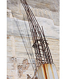 Construction site, Construction material, Structural steel, Incomplete structure