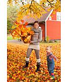Mother, Autumn, Rural Scene