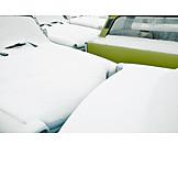 Winter, Car, Snow, Trabant