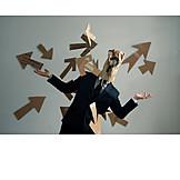 Businessman, Direction, Disoriented