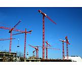 Crane, Crane, Construction site, Tower crane
