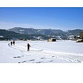 Winter, Snow, Skiers