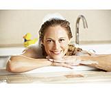 Bathing, Bathtub, Bubble bath