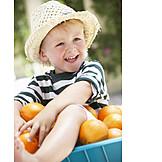Boy, Healthy Diet, Vitamins, Harvest, Summer, Organic Farming