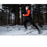 Man, Winter, Running