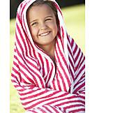 Child, Summer, Towel