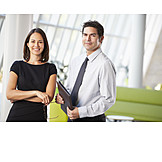 Business woman, Businessman, Agency
