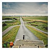 Rural scene, Road