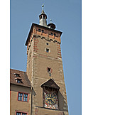 Town hall tower, Bell tower, Wurzburg