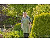 Woman, Garden, Gardening