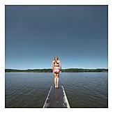 Child, Lake, Summer, Summer holidays