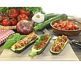 Filled, Zucchini, Stuffed zucchini