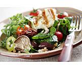 Salad, Halloumi salad