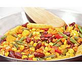 Vegetable pan, Meal