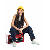 Handywoman, Craftsperson female, Building worker