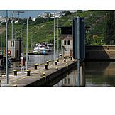 Canal lock, Neckar