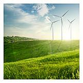 Wind power, Green electricity, Regenerative