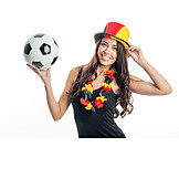 Young woman, Soccer, World cup, Soccer fan