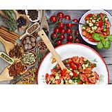 Salad, Tomatoes, Tomato salad