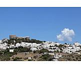 Pilgrim, Patmos, Monastery of saint john
