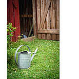 Watering can, Garden shed