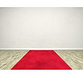 Copy space, Room, Red carpet
