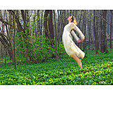 Young woman, Happy, Spring fever, Woodland fairy