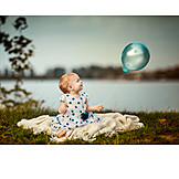 Baby, Balloon, Evening
