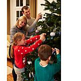 Decorate, Family, Christmas tree