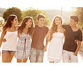 Teenager, Embracing, Friendship
