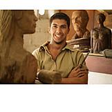 Portrait, Artist, Sculptor