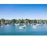 Marina, Lake starnberg, Sailboats