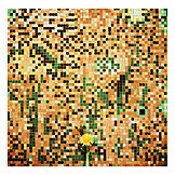 Colors & shapes, Dandelion, Urban, Mosaic