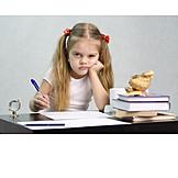 Girl, Stubborn, Homework