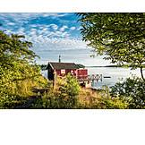 Travel destinations, Wooden house, Sweden, Archipelago