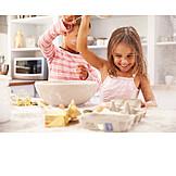 Child, Baking, Siblings