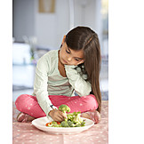 Child, Healthy Diet, Vegetable, Dull