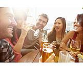 Fun & happiness, Drinking, Friends