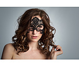 Young woman, Woman, Mask