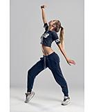 Teenager, Young Woman, Hip Hop, Dancing