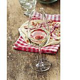 White wine, Tarte flambée