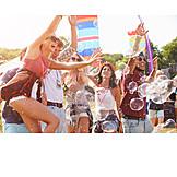Carefree, Bubble wand, Music festival