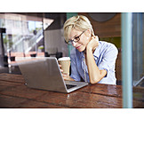 Business Woman, Coffee Time, Laptop