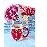 Winter, Christmas, Hot drink