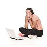 Woman, Laptop, Speechless