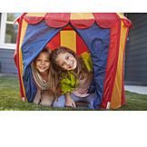 Child, Playing, Childhood, Tent